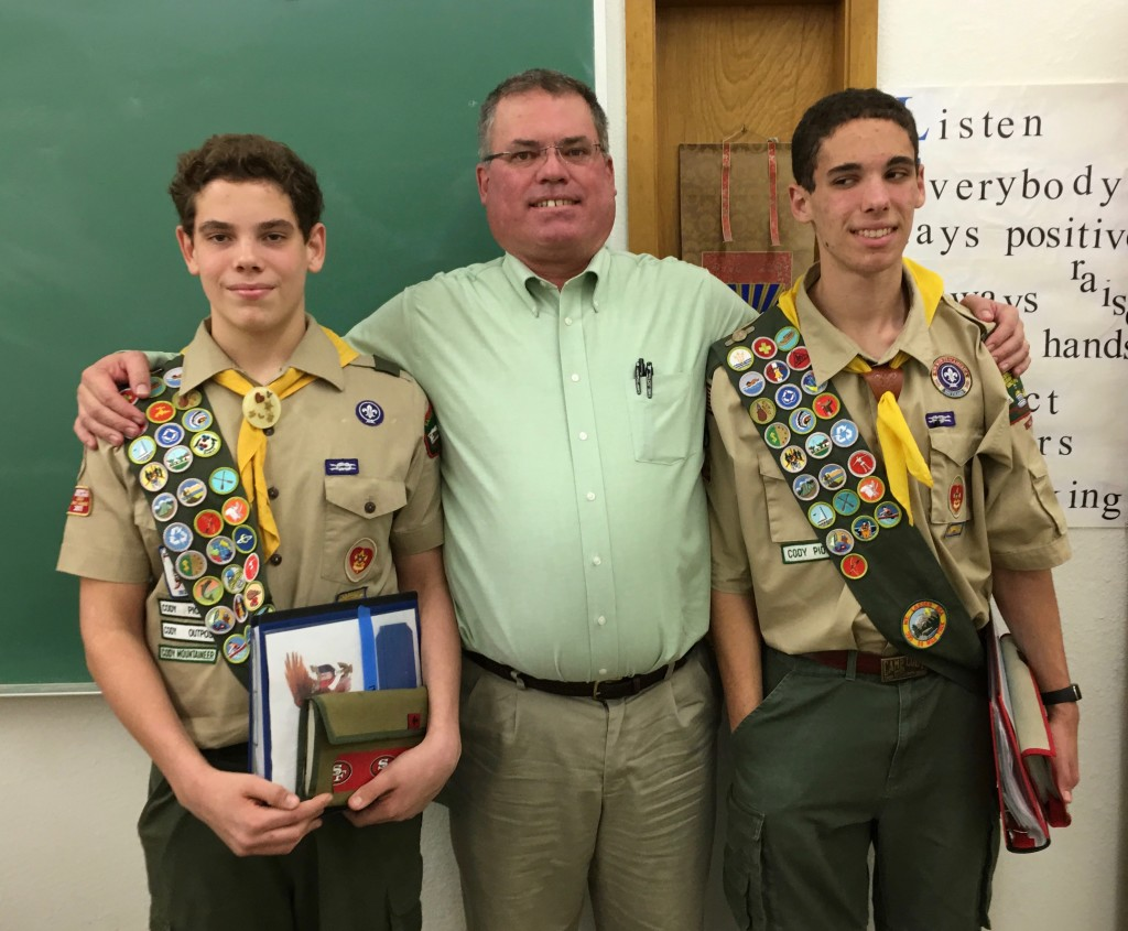 Three Brinkman Eagle Scouts